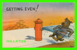 HUMOUR, COMICS - GETTING EVEN ! - WALT MUNSON - TRAVEL IN 1948 - - Humour