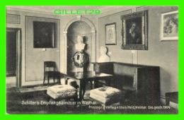 WEIMAR, GERMANY - SCHILLER'S EMPFANGSZIMMER - LOUIS HELD IN 1904 - - Weimar
