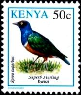 BIRDS-SUPERB STARLING- KENYA-1993-MNH-H-557 - Climbing Birds