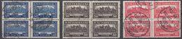 UNGHERIA - 1927 - Tre Quartine Usate: Yvert 391, 393 E 394 Per Complessivi 12 Valori. - Hungría