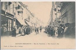 Savigny En Braye (41 Loir Et Cher) Rue Des Pépinières - Une Course à Ane - édit Briant à Savigny Circulée En Ville 1907 - France