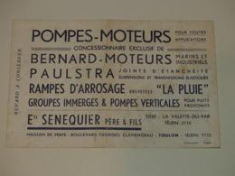Buvard Ets SENEQUIER à La Valette Du Var - Pompes Moteurs Bernard - Blotters
