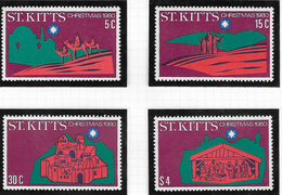 St Kitts SG49-52 1980 Christmas Set 4v Complete Unmounted Mint [38/31603/1D] - St.Kitts And Nevis ( 1983-...)