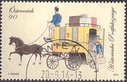 AUSTRIA ÖSTERREICH 2014 Historische Postfahrzeuge - Paketpostwagen  USED / O / GESTEMPELT - 1945-.... 2. Republik