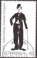 AUSTRIA ÖSTERREICH 2014  125. Geb. Charlie Chaplin  USED / O / GESTEMPELT - 1945-.... 2. Republik