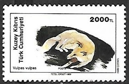 Turkish Cyprus 1989  Sc#251    2000tl  Fox  MH  2016 Scott Value $4 - Cyprus (Turkey)
