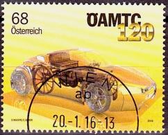 Austria Österreich 2016 120 Jahre Österreichischer Automobil-, Motorrad- Und Touringclub (ÖAMTC)   USED / O / GESTEMPELT - 1945-.... 2. Republik