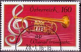 Austria Österreich 2016 Wiener Trompete Musikinstrumente (VI)   USED / O / GESTEMPELT - 1945-.... 2. Republik