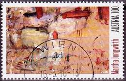 Austria Österreich 2016 Zeitgenössische Kunst – Martha Jungwirth  USED / O/ GESTEMPELT - 1945-.... 2. Republik