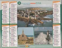 CALENDRIER ALMANACH DU FACTEUR 2016 - ILES DE SEIN ET DE GROIX ( VUES GENERALES ET PHARES ) VOIR LES SCANNERS - Calendars
