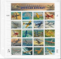 USA 1997 Sheet Aviation Classic America Aircraft ,Planes,Scott # 3142,VF MNH** - Sheets