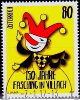 Austria Österreich 2017, 7. Jan. 150 Jahre Fasching In Villach USED/Gestempelt/O - 1945-.... 2. Republik