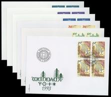 1993, Liechtenstein, 1073-75 U.a., FDC - Liechtenstein