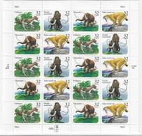 USA 1996 Sheet Prehistoric Animals,Scott # 3077-3080,VF MNH** - Sheets