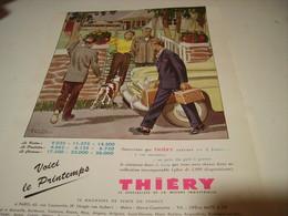 ANCIENNE PUBLICITE VETEMENT ARMAND THIERY  1954 - Habits & Linge D'époque