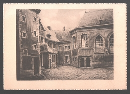 Liège - Cour Et Chapelle De L'ancien Hôpital De Bavière - Dessin De René Pennartz - Carte Informative - Luik
