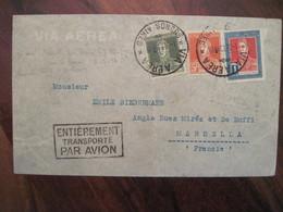 Argentine 1934 Lettre Mention Entierement Transporté Par Avion Cover France Colonie Enveloppe Airmail Via Aerea Air - Luchtpost