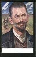 Künstler-AK Sign. J. Malczewski: Portret W. Krycinskiego - Artistas
