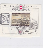 Austria 1981 Wien Lädt Zur Wipa 1981  Souvenir Sheet Used (M25A) - Blocs & Feuillets