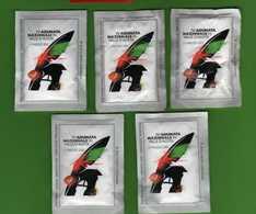 5 BUSTINE ZUCCHERO -76^ Adunata Nazionale Alpini AOSTA 11/05/2003  .    Vedi Descrizione. - Zucchero (bustine)
