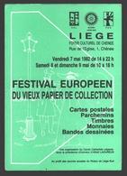 Liège / Chênée - Festival Européen Du Vieux Papier De Collection 1982 - Bourses & Salons De Collections
