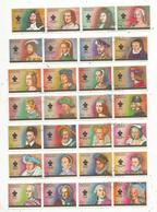 28 Timbres , Emirats Arabes Unis , Ajman State, KINGS AND QUEENS OF FRANCE, Frais 1.55e - Ajman