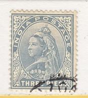 BRITISH  INDIA  55   (o)   Wmk.. STAR - 1882-1901 Empire
