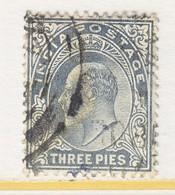 BRITISH  INDIA  60   (o)   EDWARD  VII   Wmk.. STAR - India (...-1947)