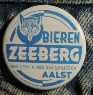 Pin Button Badge Ø38mm (bière) ZEEBERG BIEREN ( ALOST ) #2 - Bière