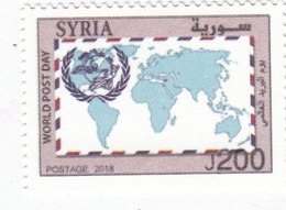 Syria New Issue 2018, International Post Day 1v.complete Set MNH- SKRILL PAYMENT ONLY - Syria