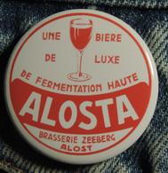 Pin Button Badge Ø38mm (bière) Brasserie ZEEBERG ALOSTA ( ALOST ) #1 - Bière