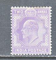 BRITISH  INDIA  63  *   EDWARD  VII   Wmk.. STAR - India (...-1947)