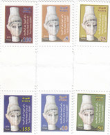 Syria New Issue 2018,Ugarit 3 Pairs SE TENANT, Limited Issue - MNH Complete Set - SKRILL PAYMENT ONLY - Syria