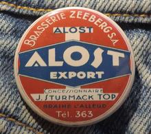 Pin Button Badge Ø38mm ( Ancienne Bière - Bier - Beer ) ALOST #4 - Bière