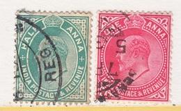 BRITISH  INDIA  78-79   (o)   EDWARD  VII   Wmk.. STAR - India (...-1947)