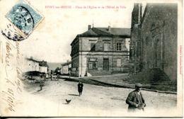 N°65656  -cpa Sivry Sur Meuse -place De L'église Et De L'hôtel De Ville- - Altri Comuni