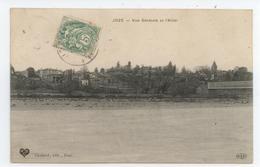 TRES RARE CPA 1907 PUY DOME JOZE VUE GENERALE ET L'ALLIER TIMBRE ET CACHET TAXE TBE - France