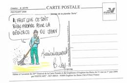 Illustrateur Bernard Veyri Caricature Et Dedicace  Année De La Planete Terre Animaux Ecologie - Veyri, Bernard
