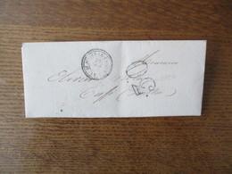 CACHET POINTILLE ST JULIEN LE FAUCON 28 OCT 56 30   CHERBOURG A PARIS 28 OCT. 56 SUR LETTRE DU 28 8bre 1856 - Marcophilie (Lettres)