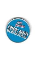 Jeton De Caddie  Vieil  Argent  Fond  Bleu  S.A.R.L  SABLON  CHOK  AUTO  Verso  1 € - Trolley Token/Shopping Trolley Chip