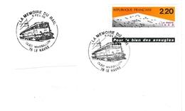 Le Havre 1989 - BT Locomotive Train Massillon - Zug Railway Lokomotiv - Marcophilie (Lettres)