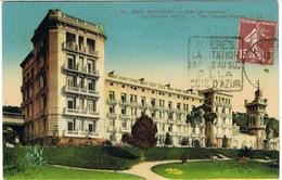 DAGUIN DE HYERES SUR RECTO DE CPA GRAND HOTEL SAN SALVADOUR - Marcophilie (Lettres)