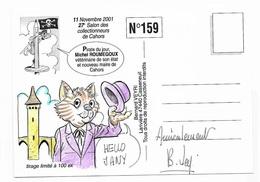 Illustrateur Bernard Veyri Caricature Et Dedicace Michel Roumegoux Vétérinaire Et Maire De Cahors - Veyri, Bernard