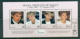 Tonga 1998 Princess Diana In Memoriam MS MUH Lot81831 - Tonga (1970-...)
