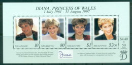 Tonga Niuafo'ou 1997 Princess Diana In Memoriam MS MUH - Tonga (1970-...)