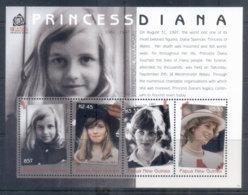 PNG 2007 Princess Diana In Memoriam 10th Anniv. Sheetlet MUH - Papua New Guinea