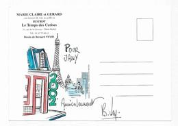 Illustrateur Bernard Veyri Caricature Et Dedicace Bistrot Le Temps Des Cerises Paris - Veyri, Bernard