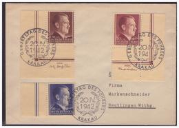 GG (005283) WKII Propaganda Beleg Mit MNR 89/ 91 Mit Ränder, Mit Sonderstempel 20, Geburtstag Des Führers Am 20.4.1942 - Besetzungen 1938-45
