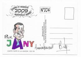 Illustrateur Bernard Veyri Caricature Et Dedicace Nicolas Sarkozy Carla Bruni - Veyri, Bernard
