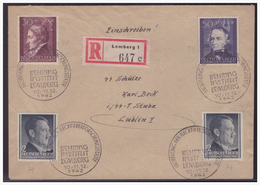 GG (005287) WKII Beleg Mit Sonderstempel 27, Behring Institut Lemberg, 10.-11.12.1942 - Besetzungen 1938-45